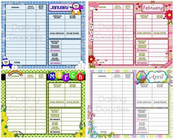 printable budget worksheets set of 12 yearly budget worksheet
