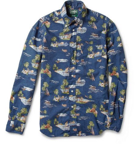 c5f0af42 Gitman Vintage Slim-Fit Hawaiian-Print Shirt | H - AW17