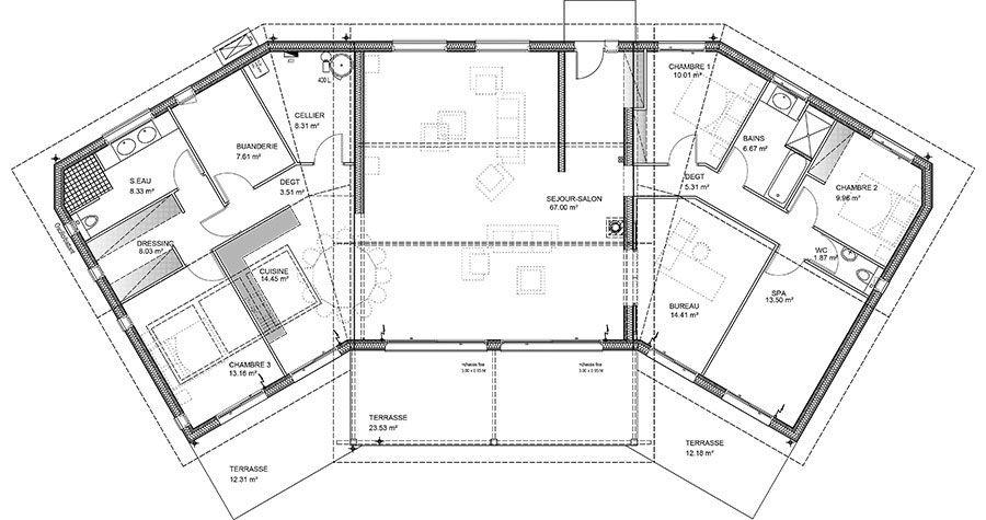 Maison Bois 13 - Océane - IGC Bois plans Pinterest - dalle beton interieur maison
