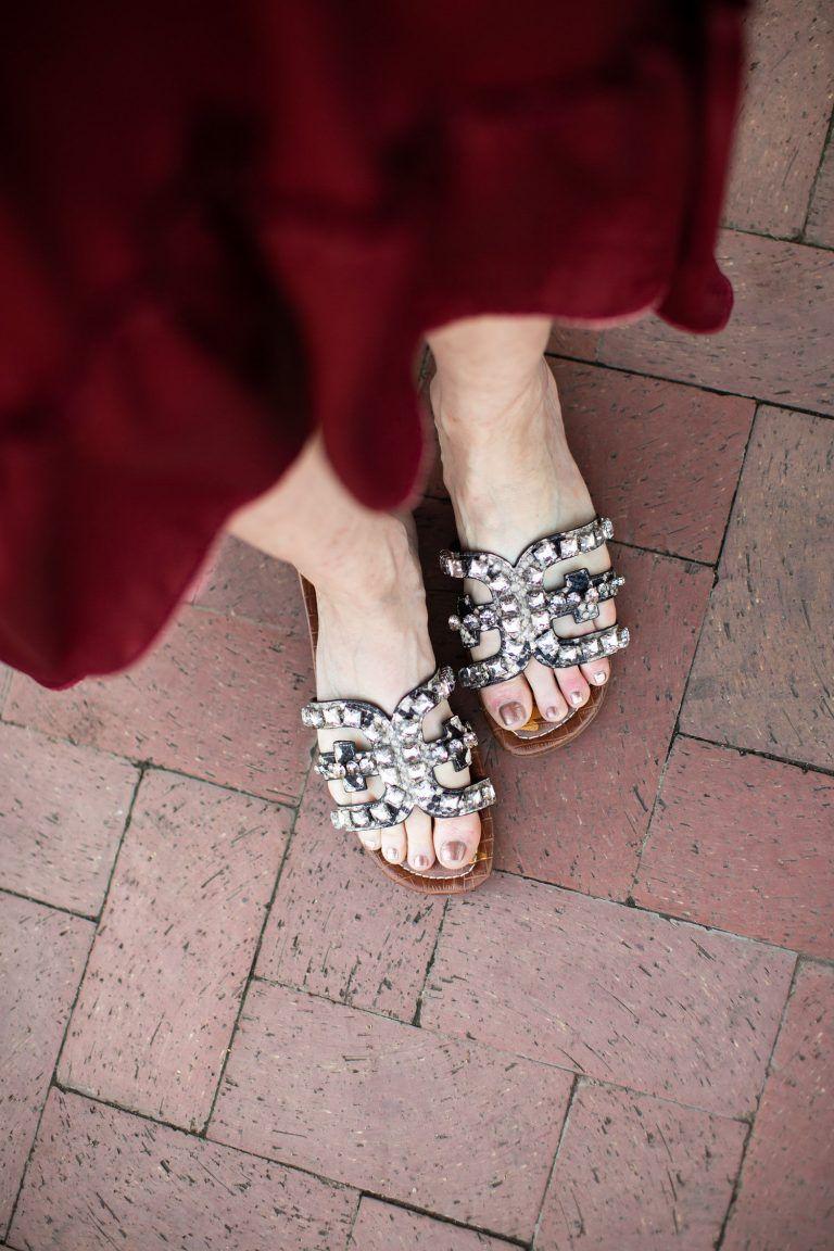 f5237de9bdc7 Bay 2 Embellished Slide Sandal SAM EDELMAN