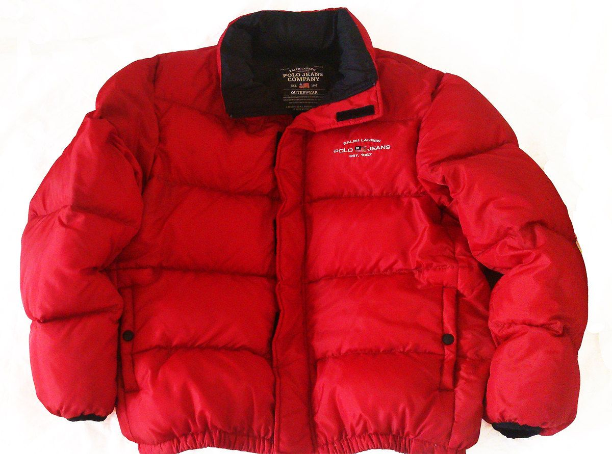vintage 90s polo by ralph lauren goose down puffer jacket red size l by vapeovintage on etsy. Black Bedroom Furniture Sets. Home Design Ideas