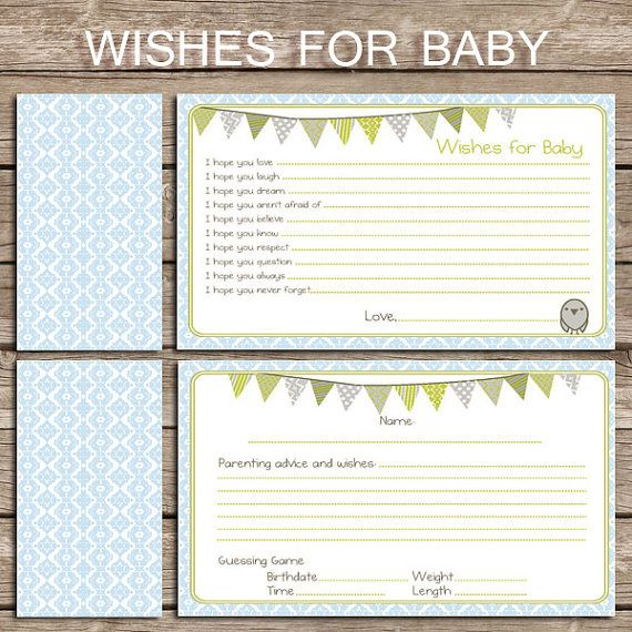 brand new baby shower game advice and well wishes neutral