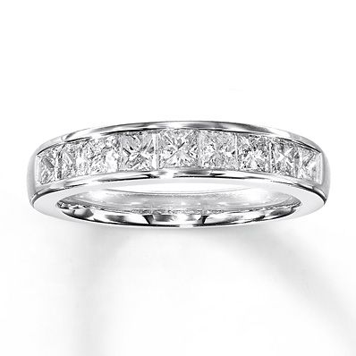 Diamond Anniversary Band 1 ct tw Princesscut 14K White Gold My