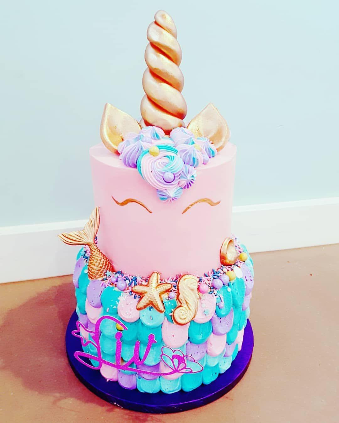 Toddler Birthday Cakes Beauty Voor Als Je Niet Kunt Kiezen Tussen Een Zeemeerminnen Of Unicorn Taart