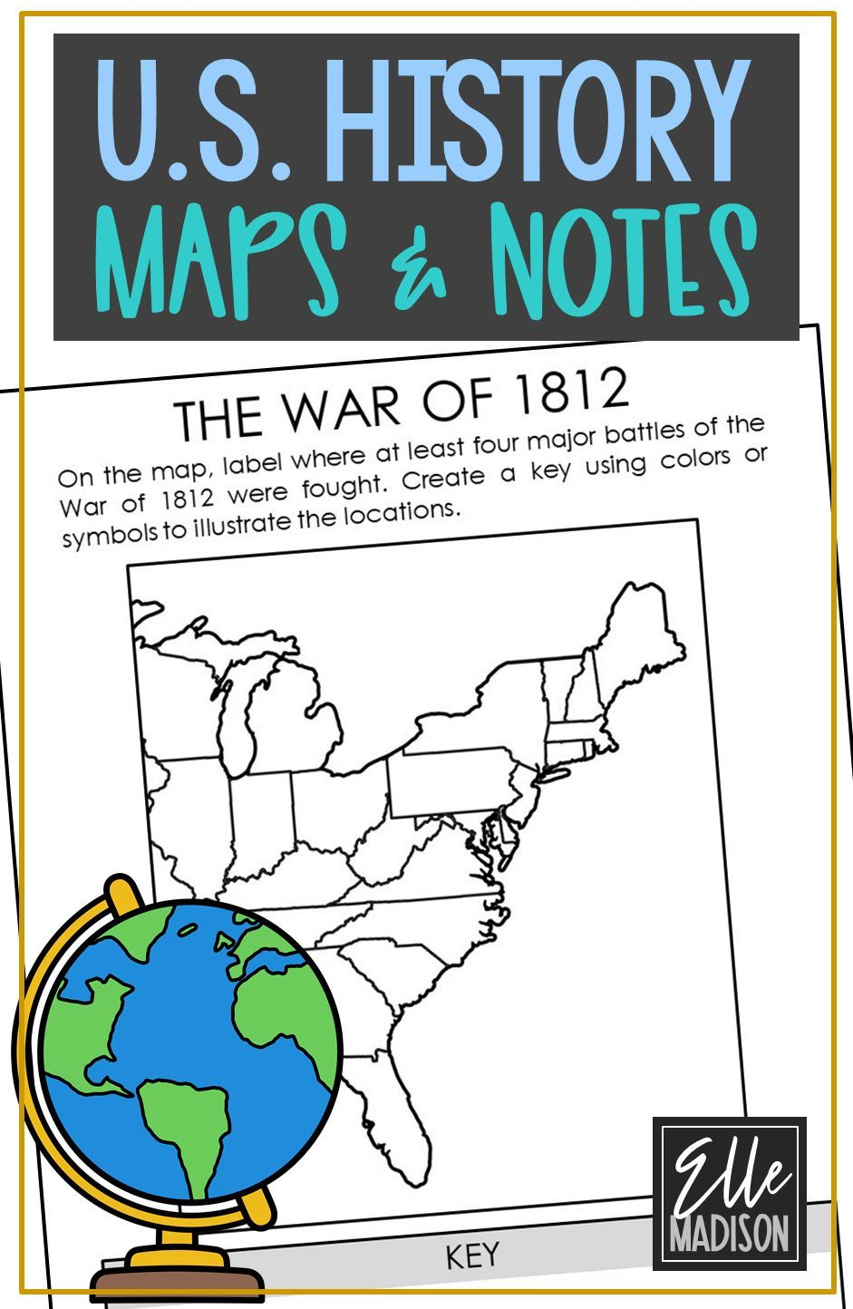Social Studies Unit Study Us American History Worksheet And Maps Note Pages Social Studies Worksheets Social Studies Middle School Social Studies