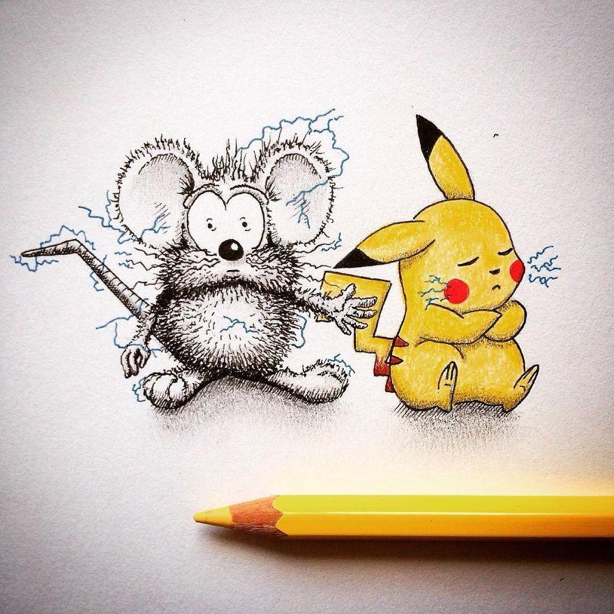 Фото рисунки карандашом смешные, люблю тебя зая