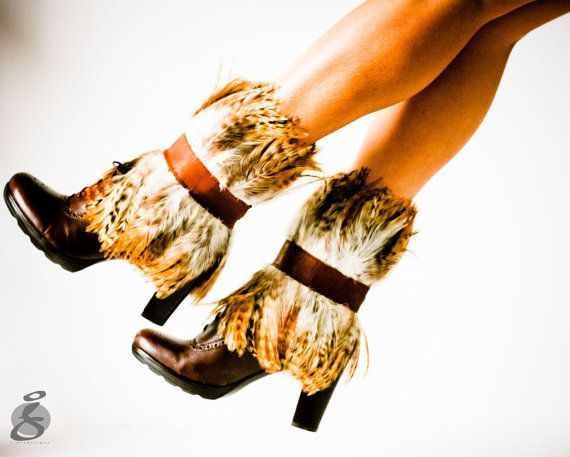 feather boot toppers