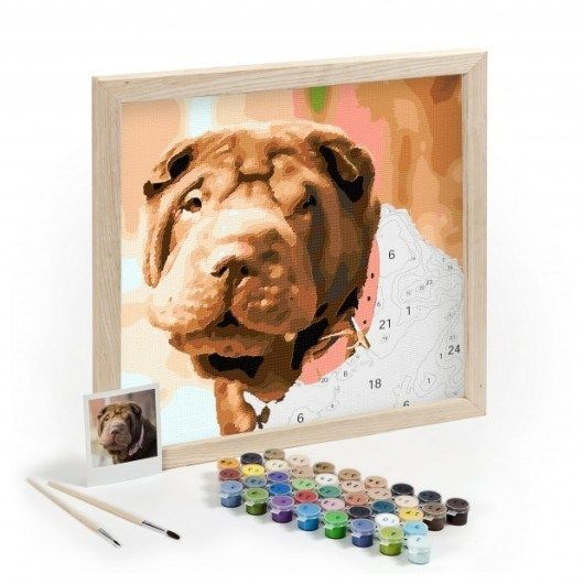 Crafts For Dog Lovers: Easy 123 Art Custom Paint By Number Kits Of Your Pet