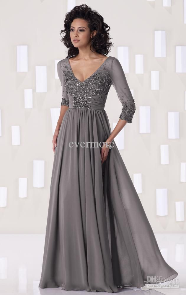 Collection Grey Formal Dresses Pictures - Reikian