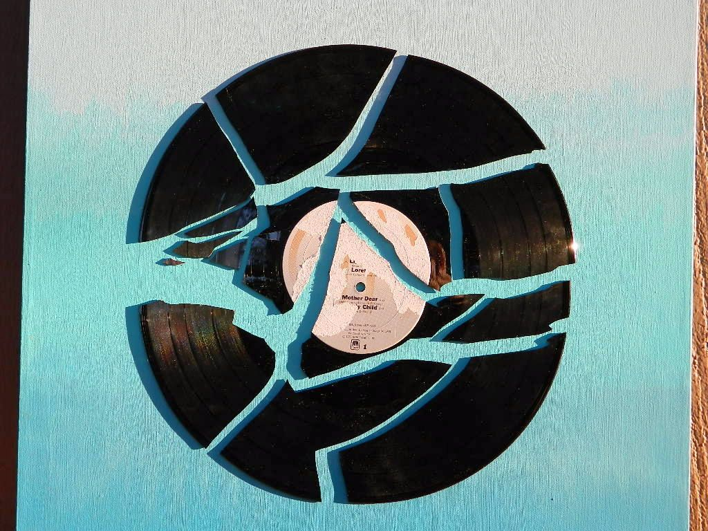Broken Record Ombre Wall Art Vinyl Record Art Vinyl