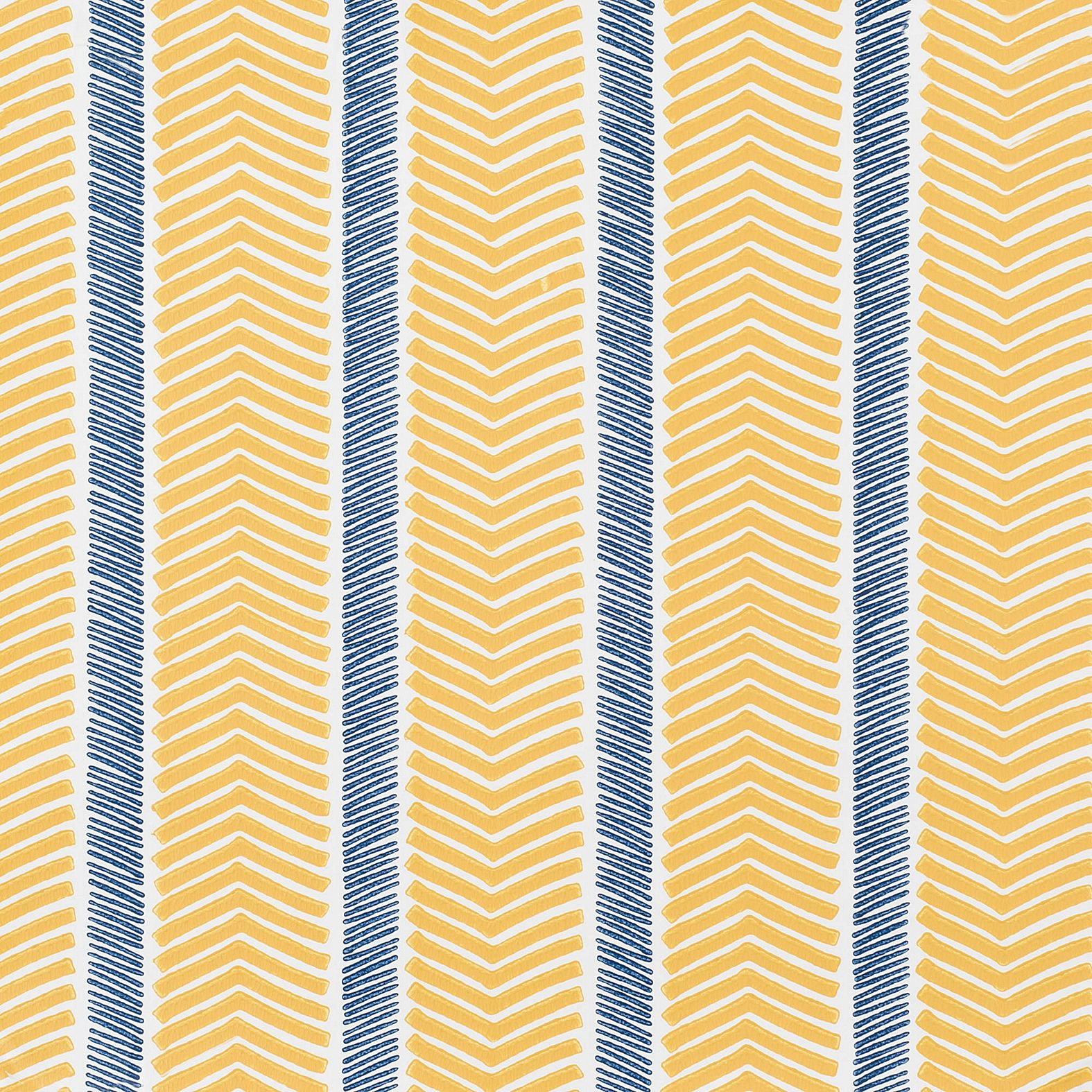 Herringbone Wallpaper Swatch – Maize/Navy | Serena & Lily | Palette ...