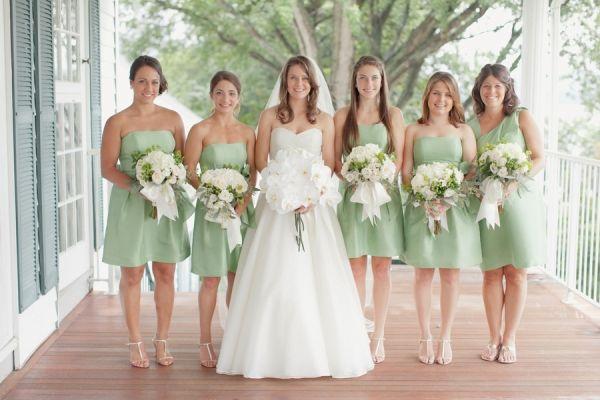 Strapless Mint Green Bridesmaids Dresses | Mint green bridesmaid ...