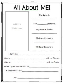 all about me printable star students printable worksheets and worksheets. Black Bedroom Furniture Sets. Home Design Ideas