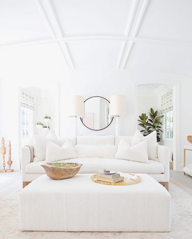 Best Rustic Coastal Decorating Ideas For Simple Home Decor: Insta Poll: Are All-white Living Rooms A Yea Or Nay? Cast