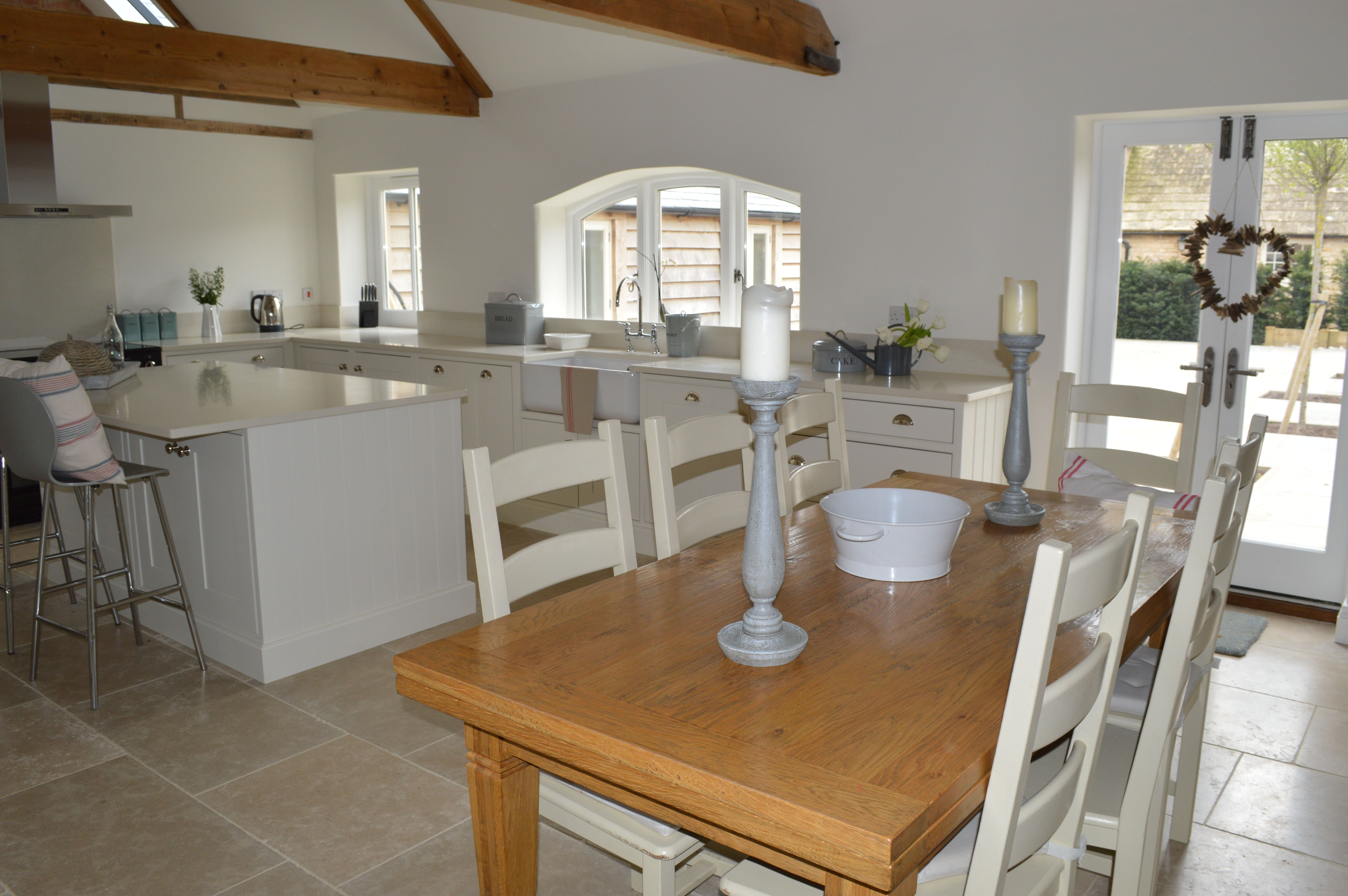 Barn Conversion Kitchen, Farmhouse Family Dining Table, The Rounded House