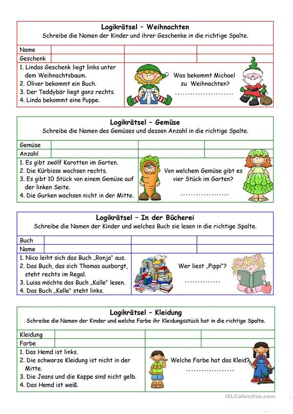Λογική αίνιγμα 02 (+ διάλυμα) | German and Spanish | Pinterest | Deutsch