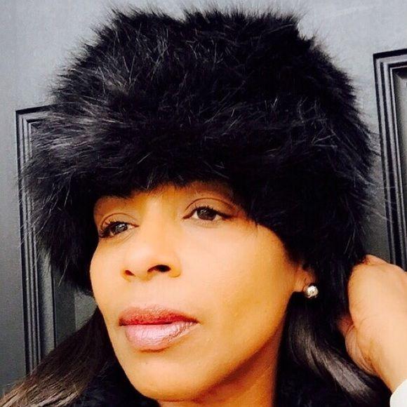 """Fur Cossack Winter Hat Fur Cossack hat, Black Color, Size; 7""""H, 11""""W, Accessories Hats"""