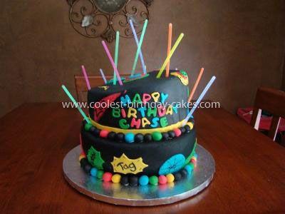 Coolest Laser Tag Birthday Cake Laser tag birthday Birthday