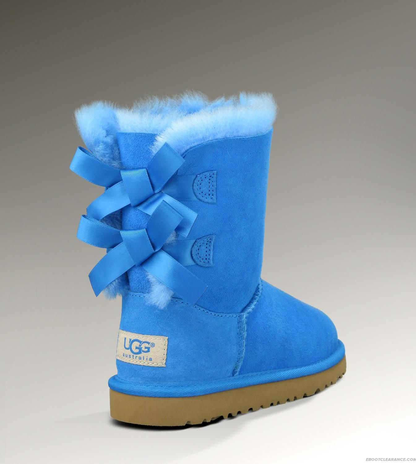 pink and blue uggs with bows