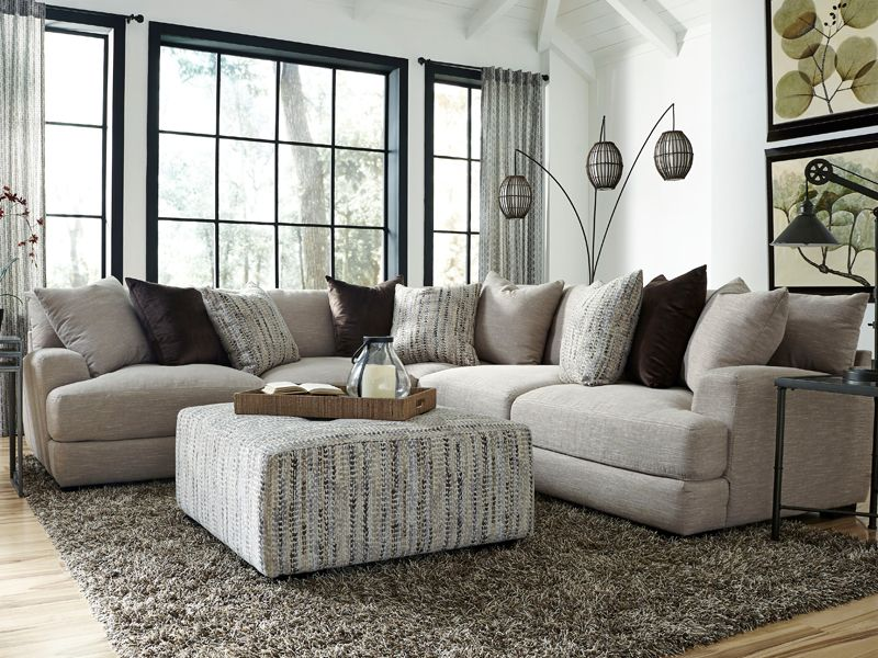 Pin By Bianca On New House With Honey In 2020 Gray Sectional Living Room Modern Furniture Living Room Farm House Living Room
