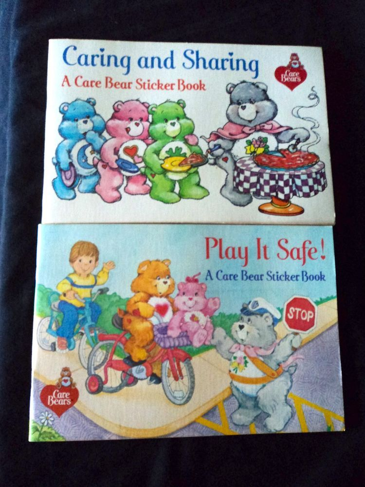 Care Bear Vintage 1980 S Pizza Hut Activity Books Coloring Stickers Stamps Kids Coloring Stickers Care Bears Vintage Coloring Books