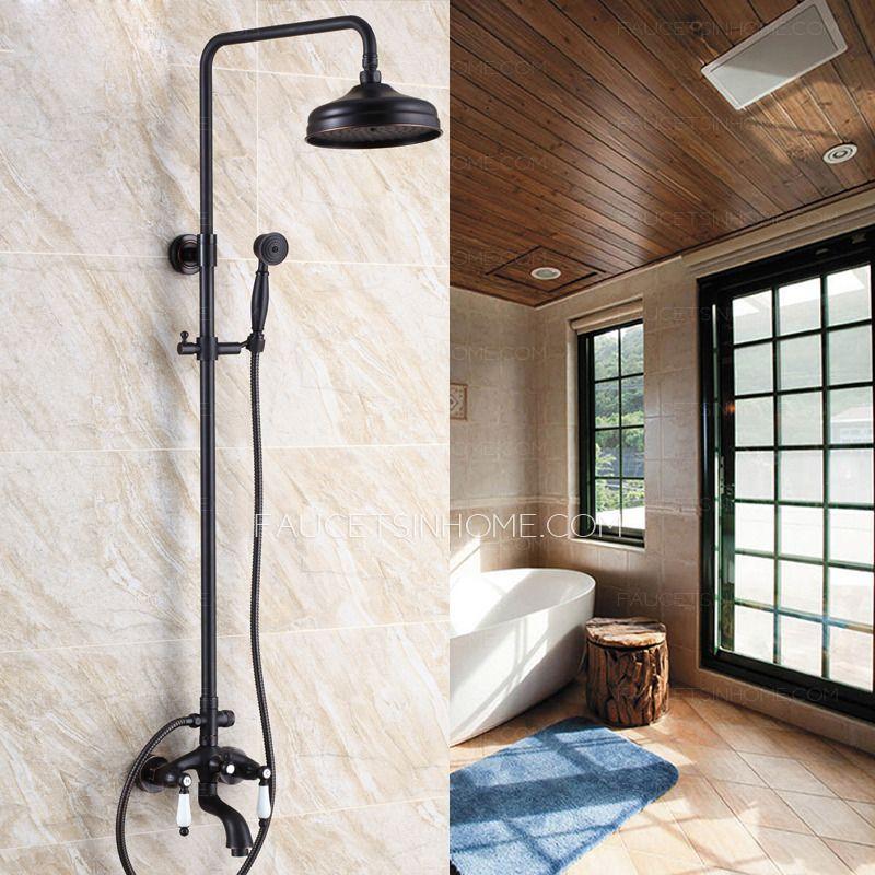 Antique Black Oil Rubbed Bronze Outdoor Bathroom Shower Faucets