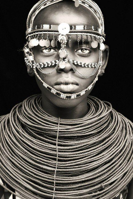 "Samburu girl in a ceremony / northern kenya"" by Mario Gerth    Kenyans are beautiful"