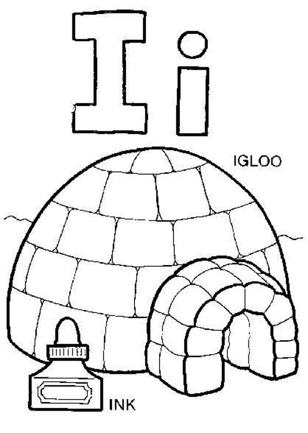 Capital Letter I For Igloo Coloring Page Best Place To Color In 2020 Coloring Pages Coloring Books Coloring Book Pages