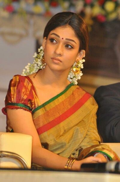 Nayanthara In Traditional Look   Nayans Style  Saree-6365
