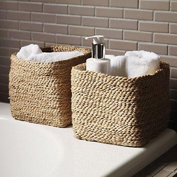Small Jute Storage Basket - Bathroom Accessories | The White ...