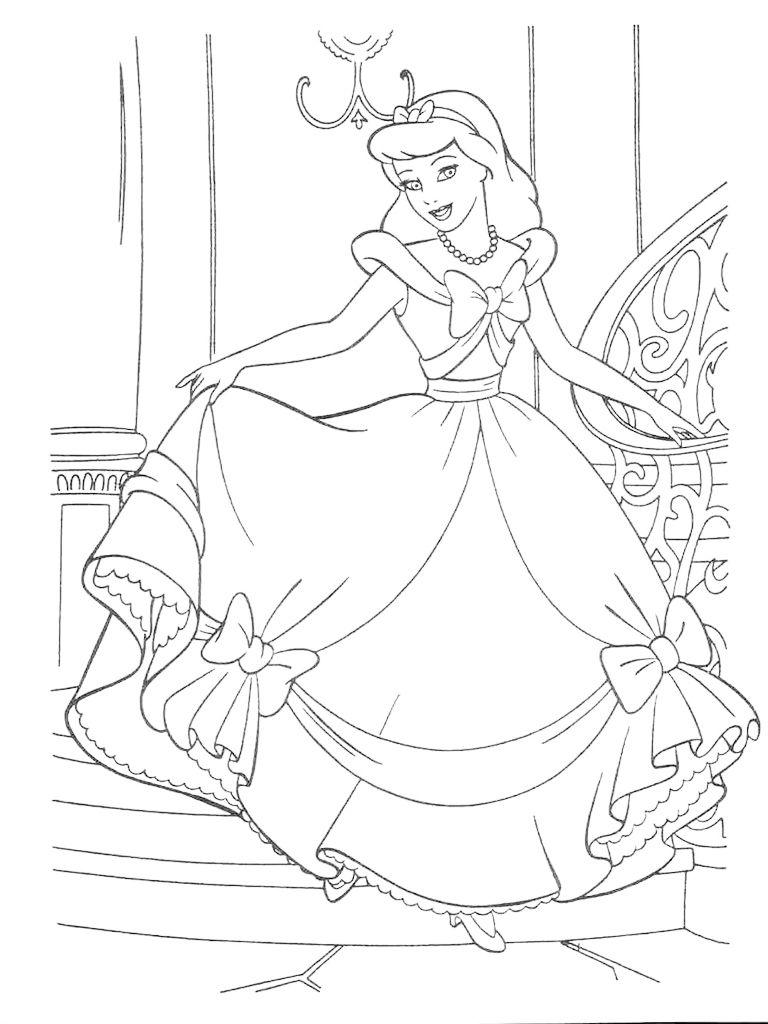Раскраски для девочек распечатать бесплатно, принцессы ...