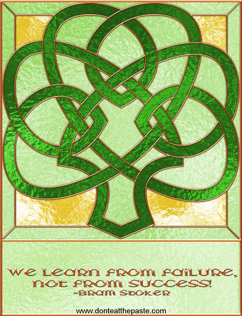 Shamrock Stained Glass Printable Box with a blank version