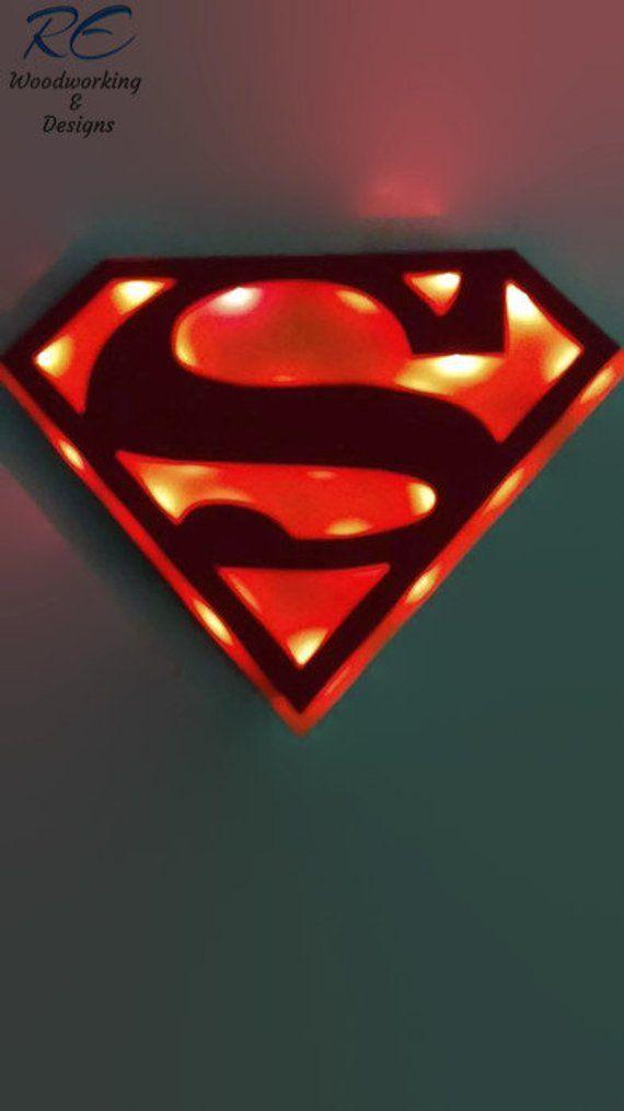 Superman Lighted sign,3D, Super Hero, kids, man cave