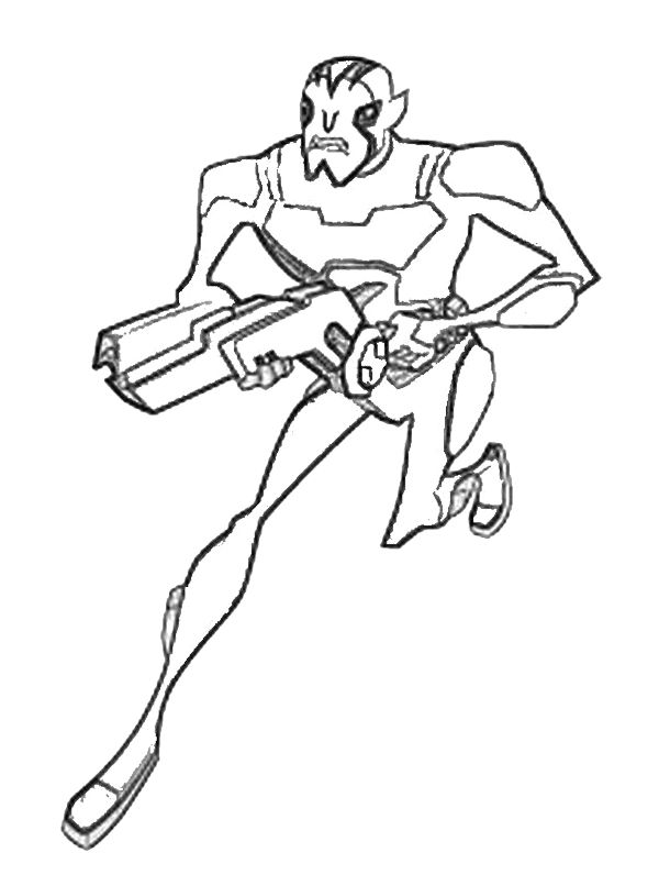 Rook Blonko Coloring Page Ben 10 Coloring Page Pinterest Rook