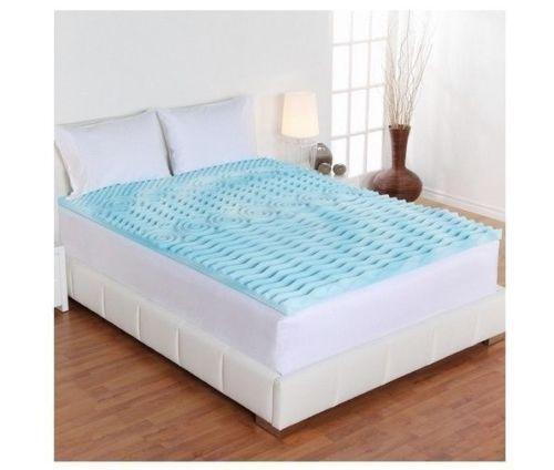 3 Memory Gel Foam Pad Bed Mattress Bedding Orthropedic Bedroom Twin Xl Topper Unbranded Mattress Topper Memory Foam Mattress Topper