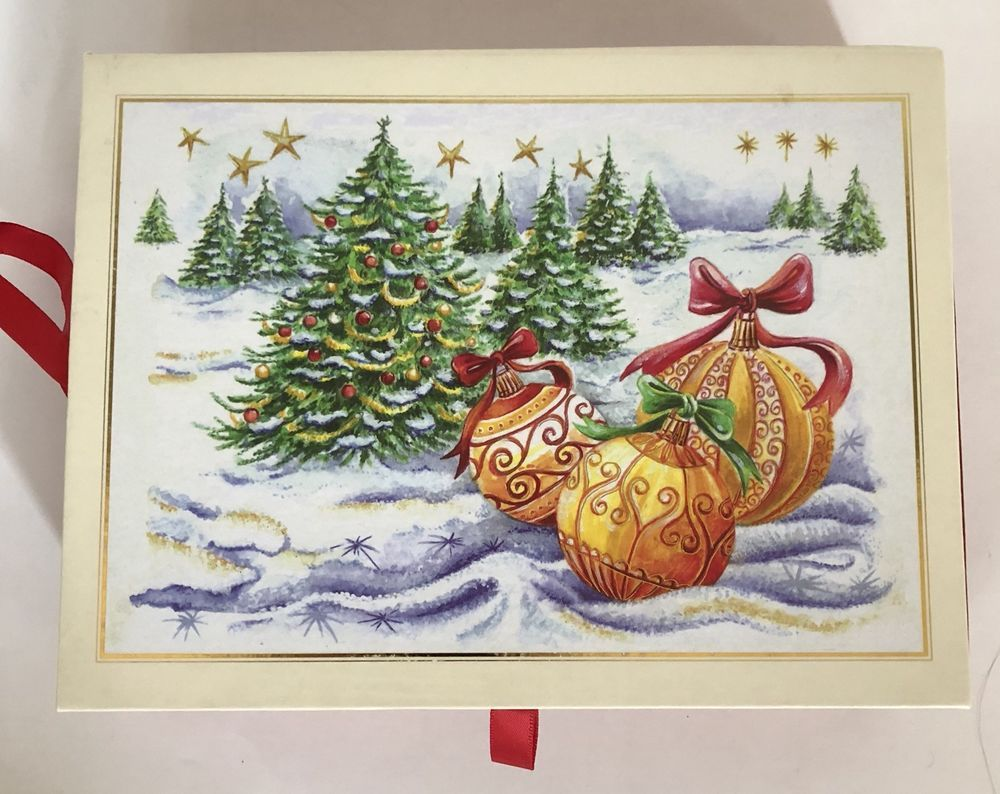 Peter Pauper Press Winter Ornaments Holiday Christmas Cards Box of 20