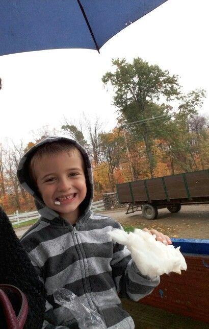 McCrays Farm. Maple cotton candy, yummy!!10/22/16