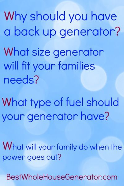 Discover why you should have a standby generator for your family in case of emergency when the power goes out. #prepper