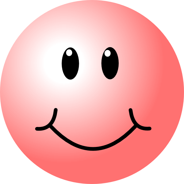 happy faces | Pink Smiley Face clip art - vector clip art ...