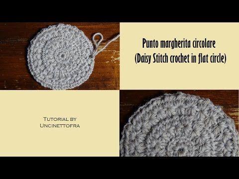 Punto Margherita Circolare Alluncinetto Daisy Stitch Crochet In