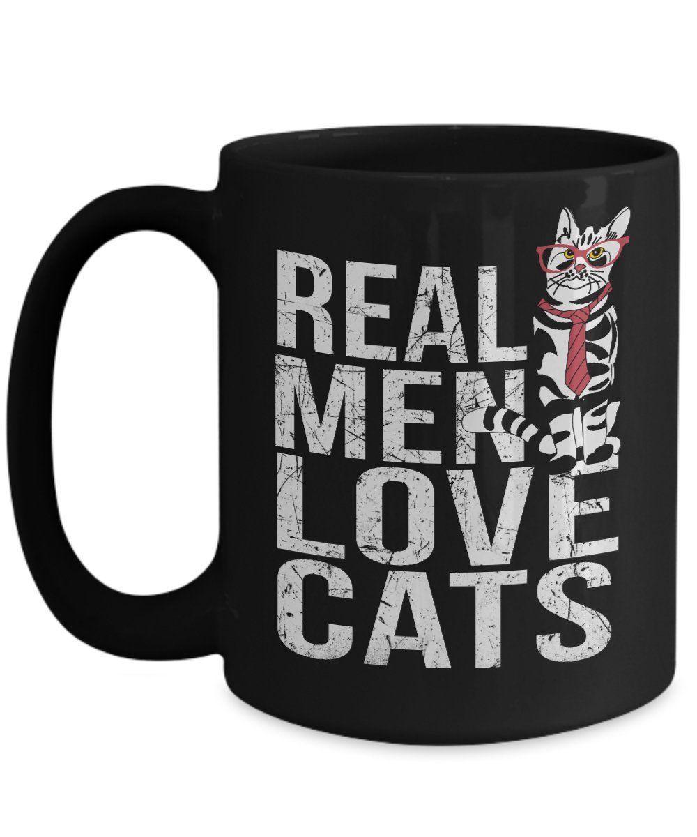Amazon poisena real men love cats design cat mugs for