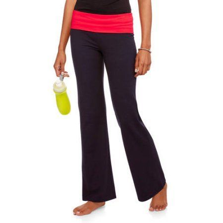 495426ebd639d No Boundaries Juniors Everyday Flare Yoga Pants, Size: Large, Red ...