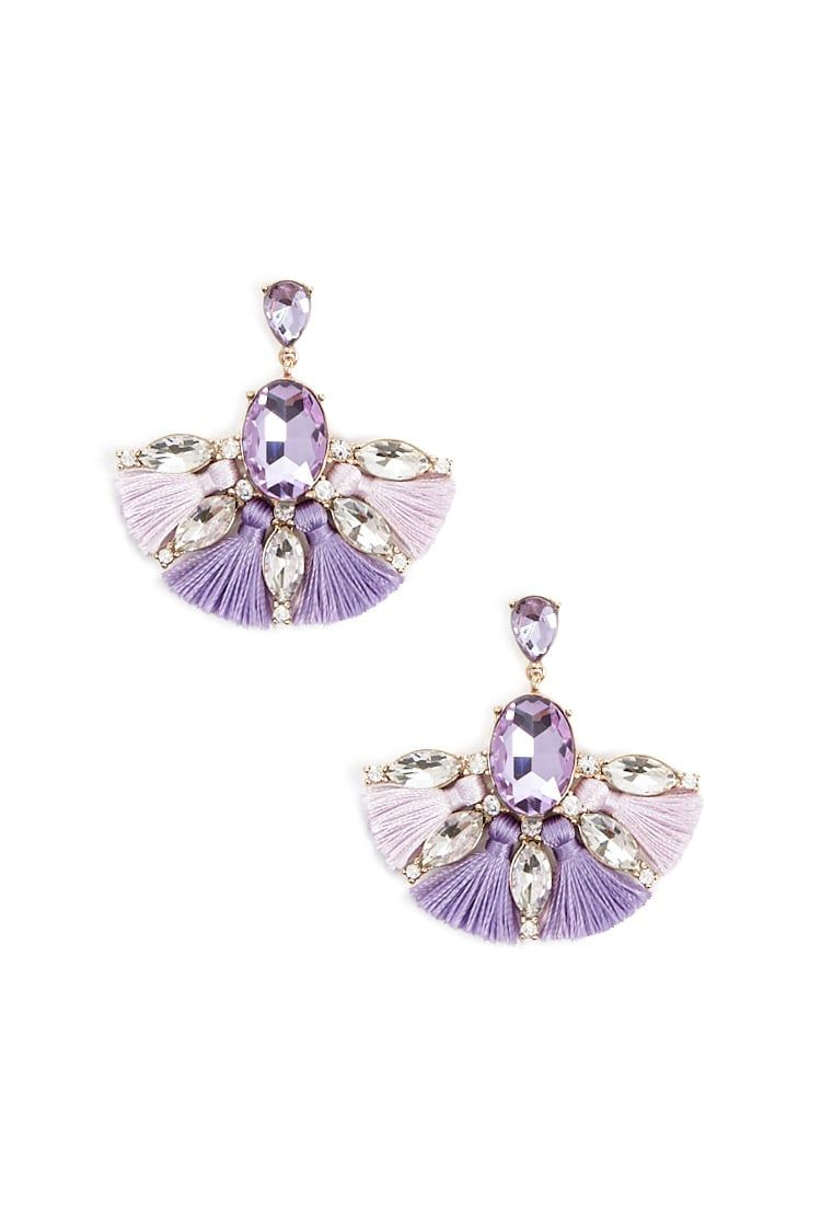 Product Name:Faux Gem Flower Stud Earring Set, Category