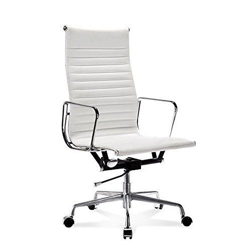 Chelsea Ribbed High Back Office Chair Leather White Bla Https