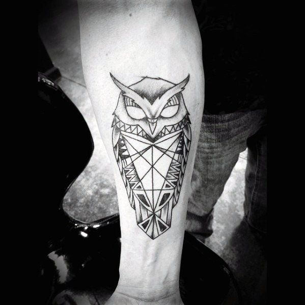 80 Geometric Owl Tattoo Designs For Men Shape Ink Ideas In 2020 Geometric Owl Tattoo Geometric Owl Tattoo Designs Men