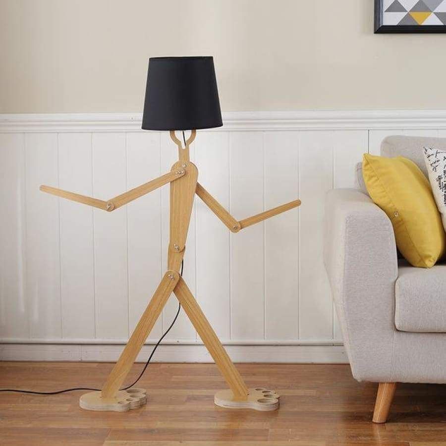 Introducing The Humanoid Lamp This Premium Item Is Guaranteed To Catch Eyes At All Times The Humanoid Lamp Floor Lamp Styles Wooden Bedside Lamps Wooden Lamp
