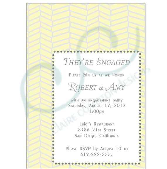 Engagement Party Invitation by CCdesignSpace on Etsy, $10.00