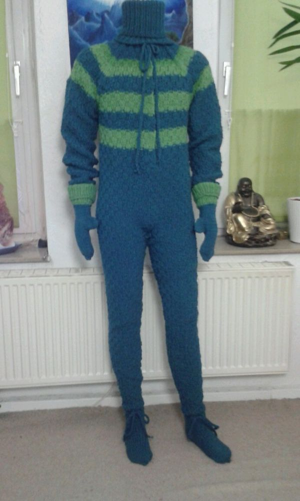 No MOHAIR  CATSUIT WOLLANZUG  ,Overall  HANDKMADE  M-L