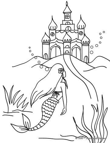 Das Konigreich Der Meerjungfrau Zum Ausmalen Das Reich Der Meerjungfrau Zum Ausmalen Ausmalen Kindergarten Malvorlagen Ausmalbilder