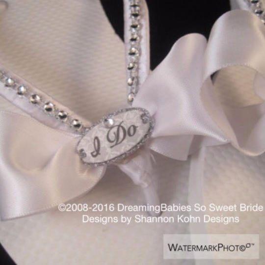 85865d541 I Do Bridal Flip Flops
